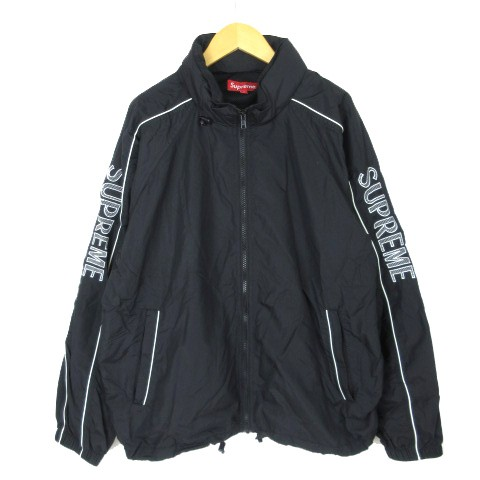 シュプリーム SUPREME Striped Logo Windbreaker ...