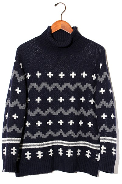【中古】DELUXE × PENDLETON TURTLE NECK SWEATE...