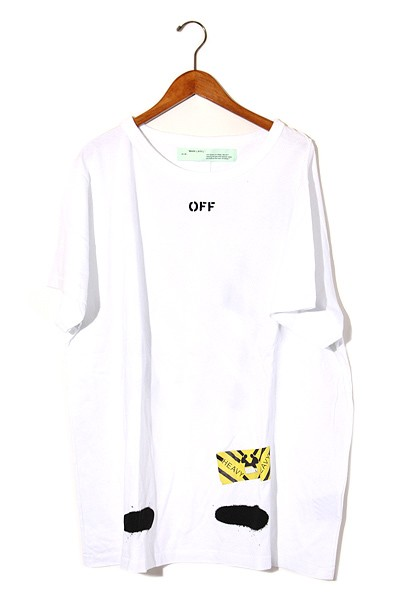 【中古】2017SS OFF-WHITE オフホワイト DIAG SPR...