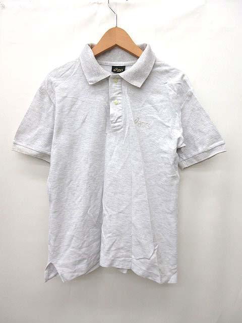 アシックス asics ポロシャツ 半袖 ロゴ コットン S 白 0612 メンズ ベクトル【中古】