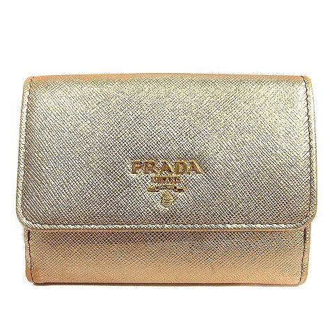 プラダ PRADA 二つ折り財布 フラップ 1MH523 ゴー...