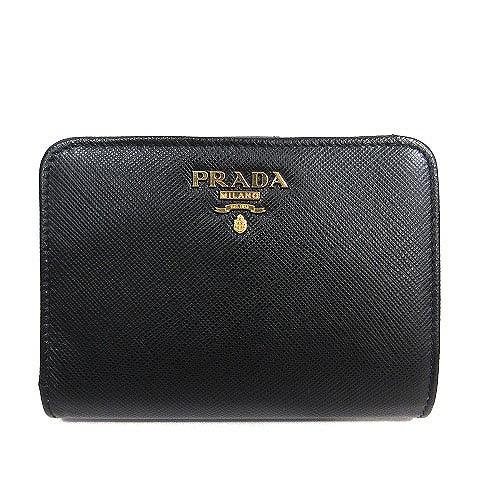プラダ PRADA 1ML018 サフィアーノ メタル 二つ折...