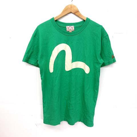 エヴィス EVISU Tシャツ 半袖 カモメ 40 緑 白 ※...