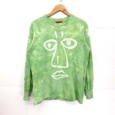 エヴィス EVISU YAMANE Tシャツ 長袖 40 緑系 ※S...