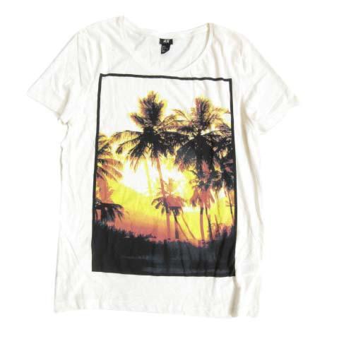 エイチ&エム H&M Tシャツ 半袖 プルオーバー カッ...