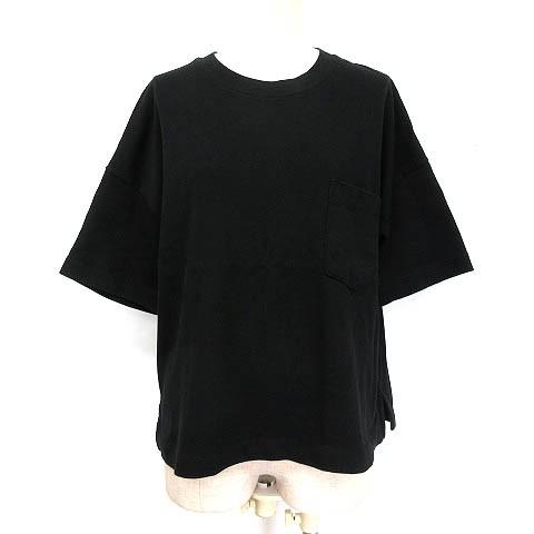 ジーユー GU ヘビーウエイトT Tシャツ 5分袖 胸ポ...