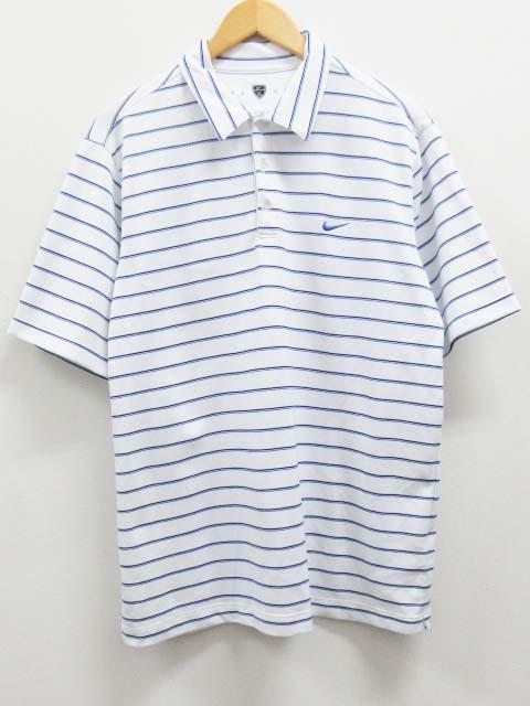 ナイキ NIKE ゴルフ ポロシャツ ボーダー 半袖 XL...