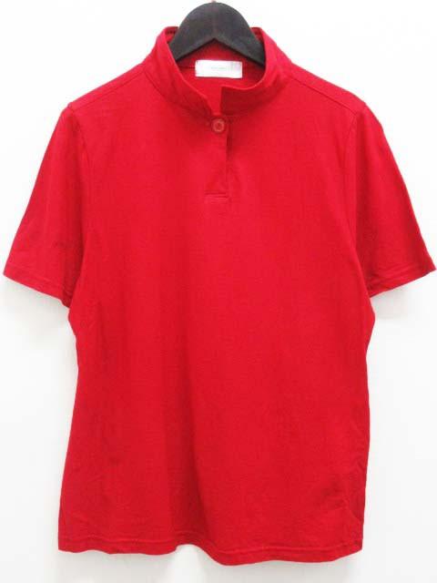 BUGARRI ポロシャツ 半袖 スタンドカラー L 赤  ...