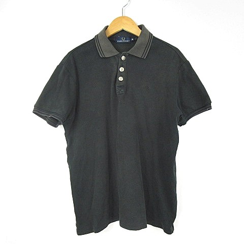 フレッドペリー FRED PERRY ポロシャツ 半袖 黒 ...