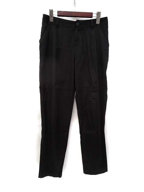 【中古】ロペ ROPE テーパード パンツ 38 黒 ブラ...