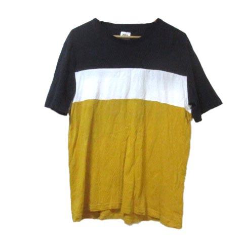 【中古】ザラ ZARA カラーブロック Tシャツ 半袖 ...