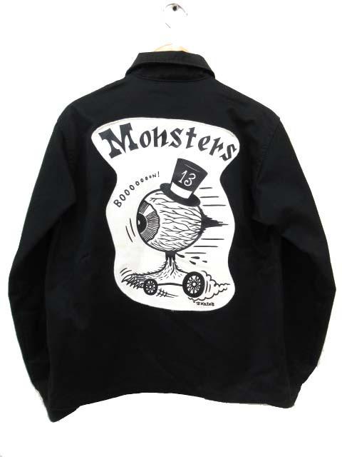 ラットランド Rat Land ツイル ジャケット バックプリント Monsters コットン ブルゾン M 黒 ブラック S6052 メンズ ベクトル【中古】