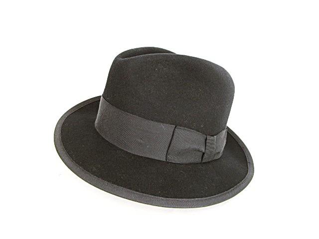 中折れハット 帽子 グログランリボン フエルト ウ...
