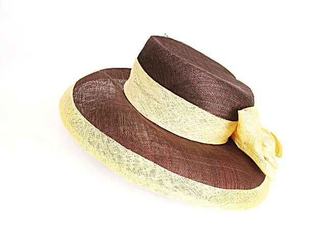 エレガントハット ビッグリボン ワイドブリム 帽...