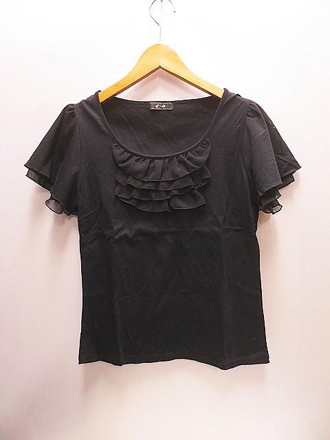 エフデ ef-de 大きいサイズ 半袖 カットソー15 黒...