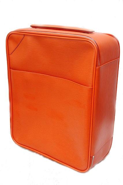 18c8c80d5781 美品 ルイヴィトン LOUIS VUITTON キャリーバッグ ぺガス45 エピ オレンジ 旅行鞄 メンズ