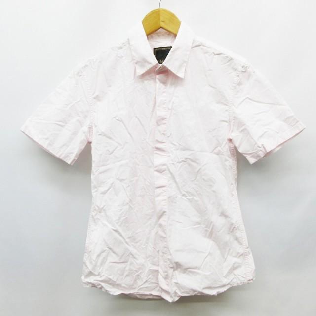 【中古】ハルプ HaLb シャツ 半袖 比翼ボタン 無...