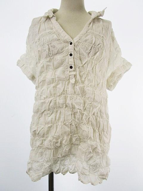 Plegina シャツ 半袖 プルオーバー 製品洗い加工 ...