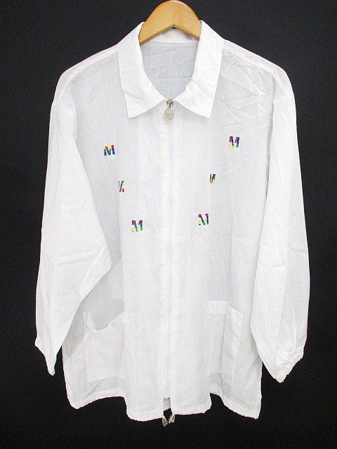 L.K.S ジャケット ブルゾン 白系 ホワイト 刺繍 ...