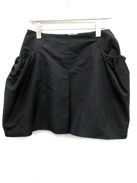 ミュウミュウ miumiu スカート ミニ 台形 40 黒 /...