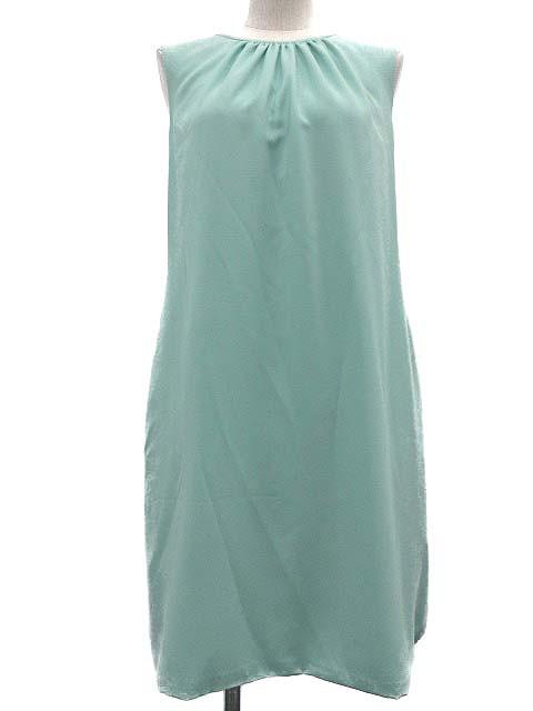 9506d67c797ff フォクシーニューヨーク FOXEY NEW YORK ワンピース ドレス ノースリーブ ミニ 緑 ミントグリーン 40 レディース ベクトル