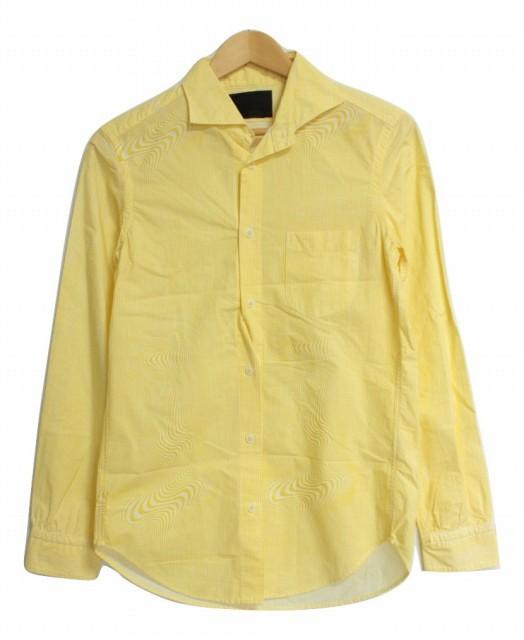 【中古】イレイト ELATE 長袖デザインシャツ 2 黄...