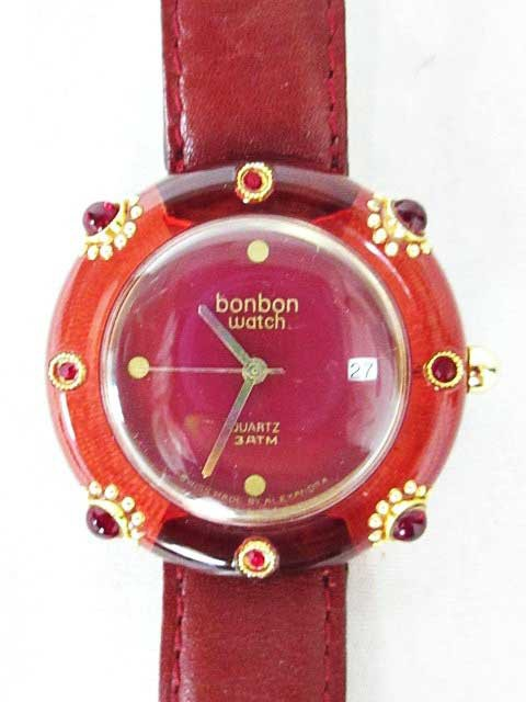 ボンボンウォッチ 腕時計 ビジュー ラインストー...