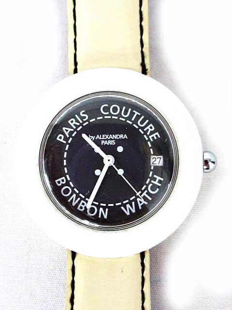 ボンボンウォッチ 腕時計 黒文字盤 ロゴ シンプル...