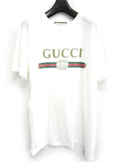 3e71f1e539df グッチ GUCCI Tシャツ GUCCIロゴ オーバーサイズ コットン フラワーアップリケ 加工 半袖 457095 X5L89 ホワイト