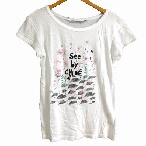 【中古】シーバイクロエ SEE BY CHLOE Tシャツ 半...