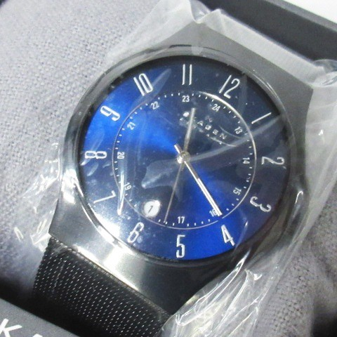 【中古】未使用品 スカーゲン SKAGEN 腕時計 basi...