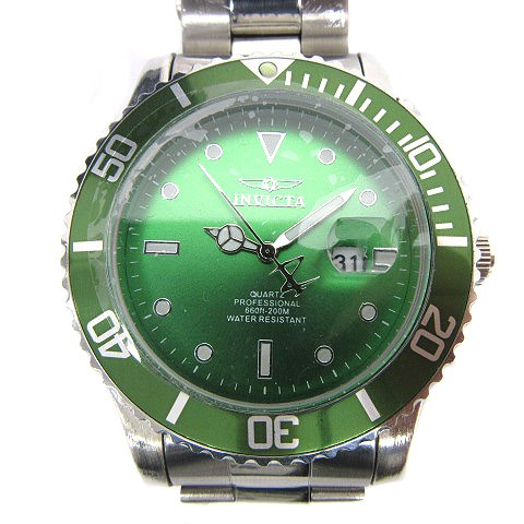 インヴィクタ invicta 腕時計 デイト クォーツ 緑...