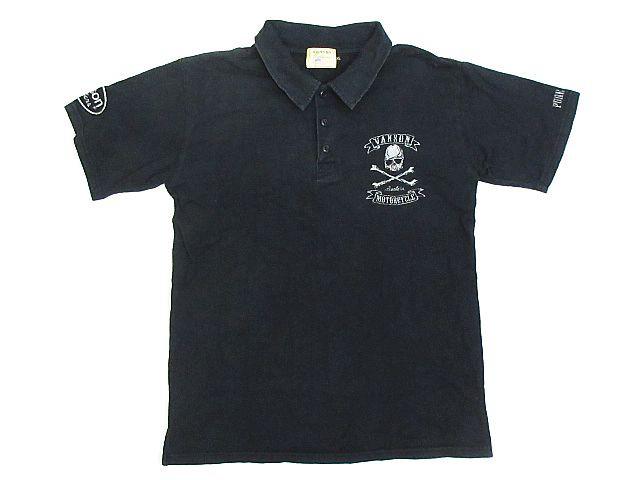 バンソン VANSON ポロシャツ ロゴ スカル ドクロ ...
