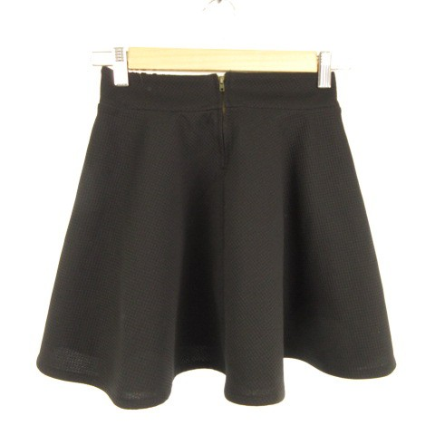 tricolour ミニスカート フレア 黒 F *E341 レデ...