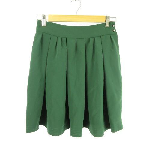 ロペ ROPE ミニスカート フレア 緑 38 *E815 レデ...
