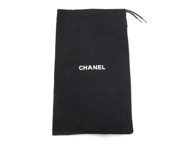 シャネル CHANEL 保存袋 巾着袋 純正 ロゴ 黒 ブ...