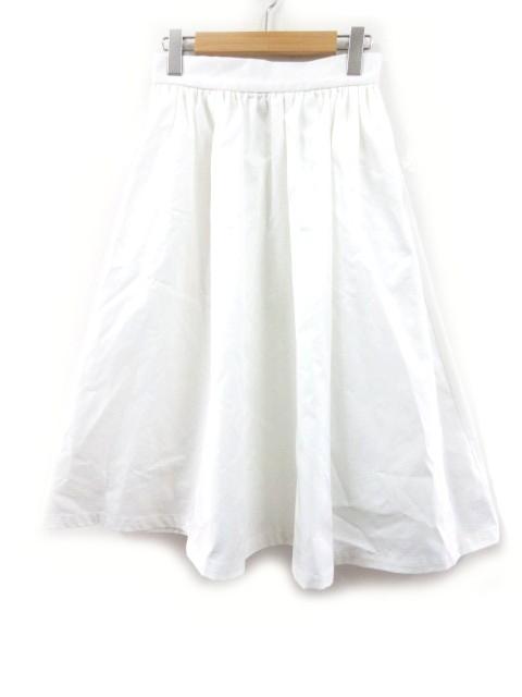 ワールド ロングスカート フレアー 白 ホワイト ...