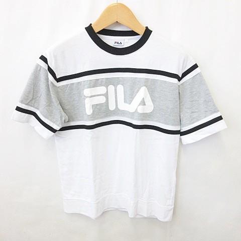 【中古】フィラ FILA Tシャツ カットソー 半袖 丸...