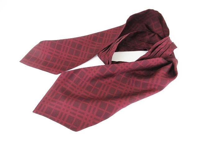 バーバリー BURBERRY スカーフ チェック シルク ...