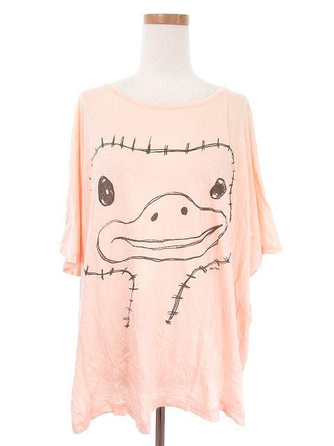 ネネット Ne-net Tシャツ チュニック プリント 半...