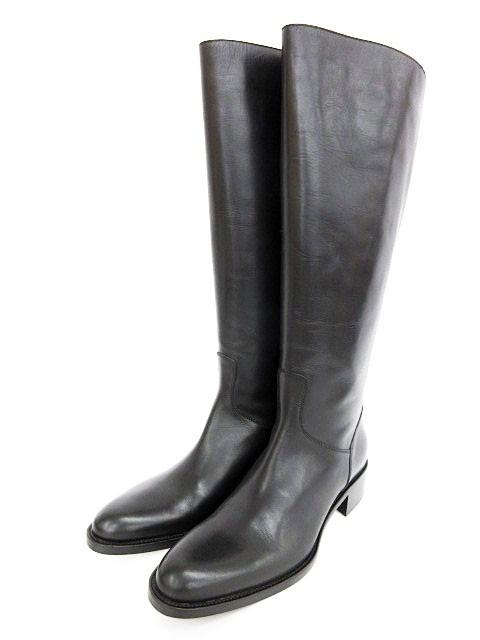 サルトル SARTORE ブーツ ロング レザー 39 黒 ブ...