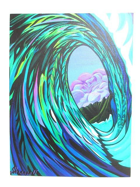 未使用品 9th Wave Gallery 絵画 アート Tiki Tub...