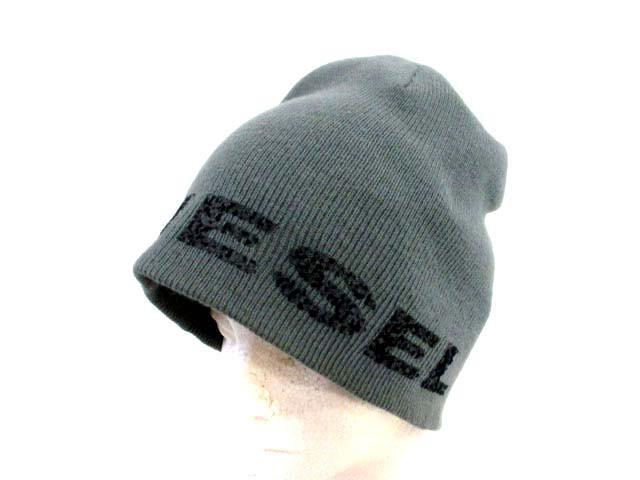 ディーゼル DIESEL ニット帽 ロゴ グレー /DT ● ...