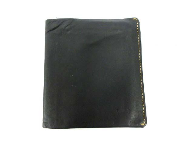 ベルロイ BELLROY 二つ折り財布 レザー 黒 /DH24 ...