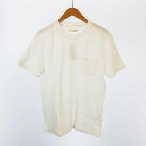 未使用品 ZIP FIVE NATURAL ポケT Tシャツ オーガ...