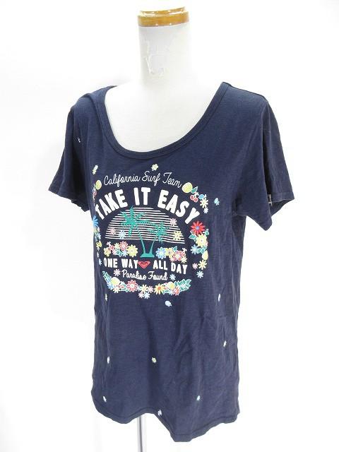 【中古】ロキシー ROXY Tシャツ カットソー 半袖 ...