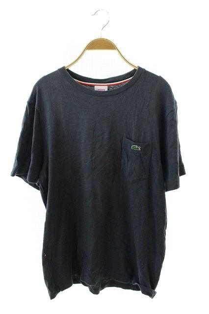ラコステ LACOSTE L!VE Tシャツ 半袖 ロゴ 4 グレ...