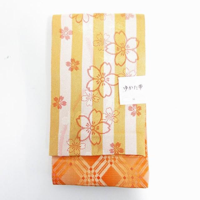 帯 着物 ストライプ 花柄 黄 /MF レディース ベク...