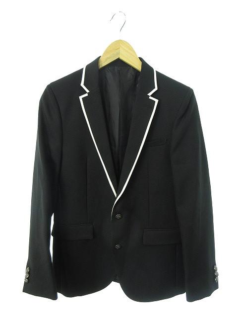 8f692a856fc17 ミチコ ロンドン コシノ MICHIKO LONDON KOSHINO ジャケット テーラード シングル 総裏地 黒 ブラック レディース