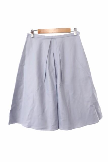 プラステ PLST スカート 台形 ひざ丈 0 青 ブルー...